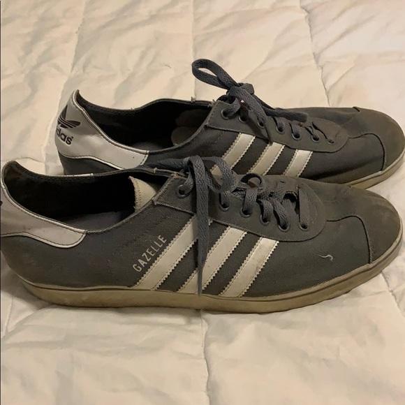 adidas Shoes | Gazelle Gray Canvas